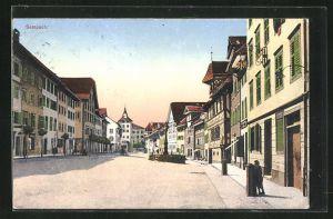 AK Sempach, Ortsansicht mit Strassenpartie