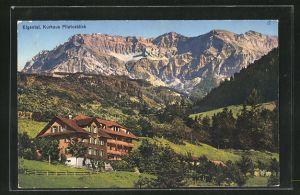 AK Eigental, Kurhaus Pilatusblick mit Alpenpanorama