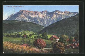 AK Eigental, Teilansicht mit Alpenpanorama