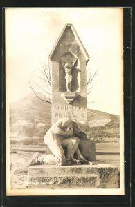 AK Igls, Ansicht vom Kriegerdenkmal
