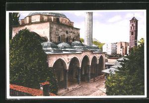 AK Sarajewo, Die Begova-Moschee mit Uhrturm
