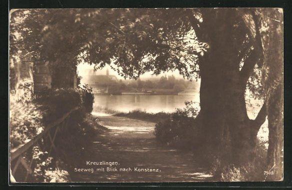 AK Kreuzlingen, Seeweg mit Blick nach Konstanz