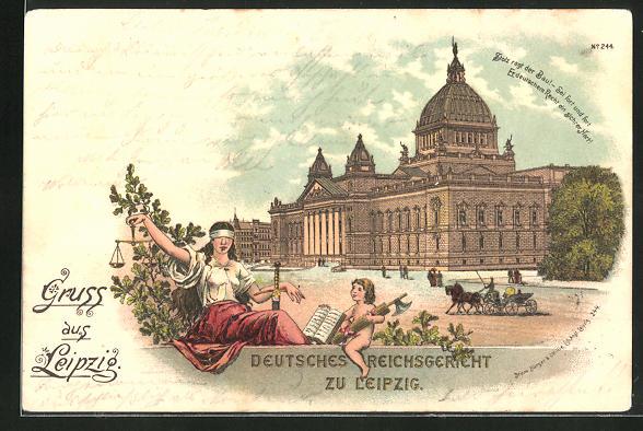 AK Leipzig, Deutsches Reichsgericht, Justitia mit Waage