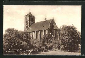 AK Braunsberg, Blick auf die Katholische Kirche
