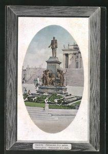 AK Helsinki / Helsingfors, Aleksanteri II.: n patsas, Denkmal