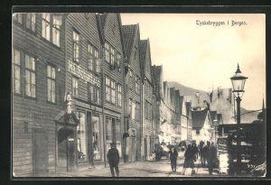 AK Bergen, Tyskebryggen, Strassenpartie