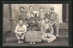 Foto-AK Constantine, Gruppenbild von Soldaten