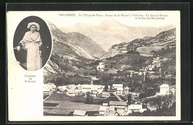AK Valloires, Le Village de Place. Route de St-Michel