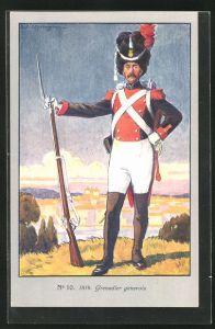 Künstler-AK Genève, Centenaire de la Réunion 1914, Grenadier genevois