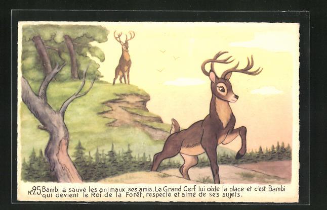 AK Bambi devient le Roi de la Foret, Comic, Walt Disney