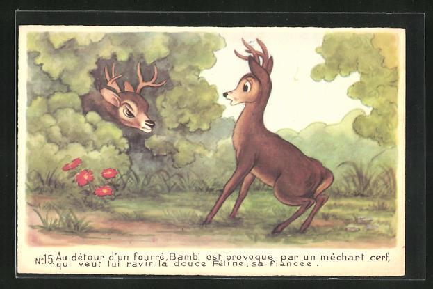 AK Bambi est provoqué par un méchant cerf, Comic, Walt Disney