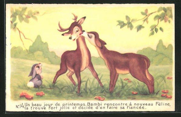 AK Bambi rencontre Féline, Comic, Walt Disney