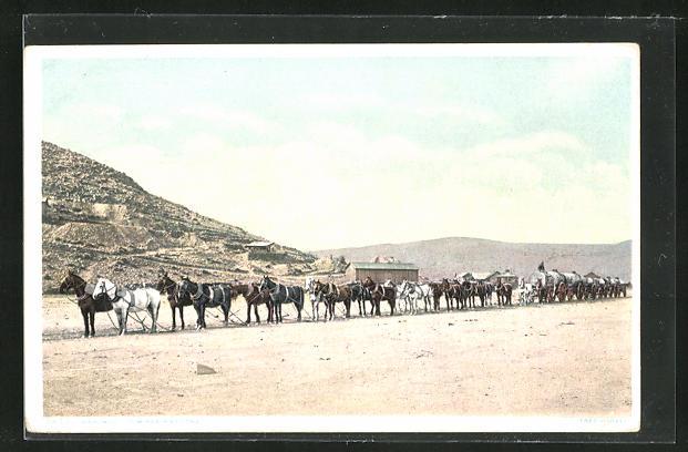 AK Hauling Oil to Mines in Arizona, Öltransport per Pferdegespann