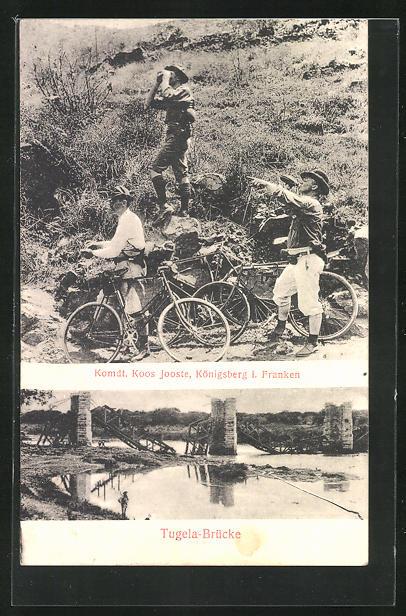 AK Königsberg, Momdt. Koos Jooste, Tugela-Brücke, Erstes Fahrrad-Korps, Burenkrieg