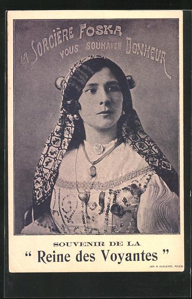 AK La Sorcière Foska, Reine des Voyantes, Hellseherin