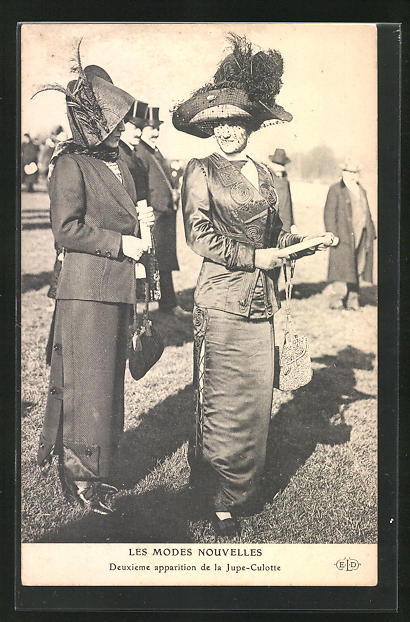 AK Damen im Hosenrock, Mode der Emanzipation