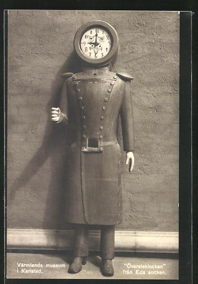 AK Karlstad, Varmlands museum, Översteklockan, Uhrenfigur