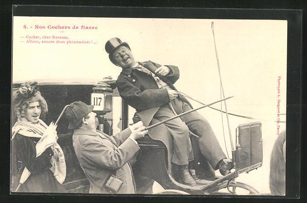 AK Cocher, chez Barnum..., Kutscher auf einer Pferdekutsche
