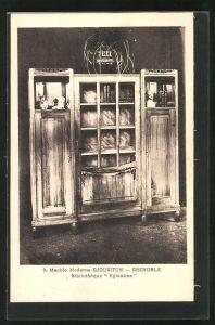 AK Grenoble, Meuble Moderne Djoukitch, Bibliothèque Eglantines, Art Deco-Möbel