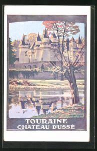 Künstler-AK Les Chateaux de la Loire: Touraine Chateau d`Ussé, Tourismus