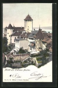 AK Morat / Murten, Le Chateau, Ansicht vom Schloss