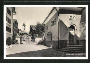 AK Andermatt, Strassenpartie im Dorf