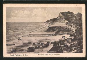 AK Gross-Kuhren, Fischerhafen und Zipfelberg
