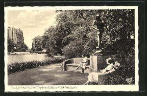 AK Königsberg, Der Bogenschütze am Schlossteich