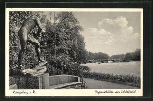 AK Königsberg, Bogenschütze am Schlossteich