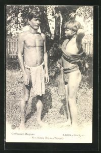 AK Attopeu / Laos, Eingeborene vom Stamm der Khas Kaseng