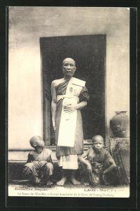 AK Laos, Le Satou de Wat-Mai - Grand Aumonier de la Cour de Luang-Prabang