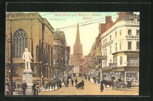 AK Bristol, High Street and Morley`s Statue