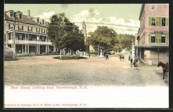 AK Peterborough, NH, Main Street, Looking East