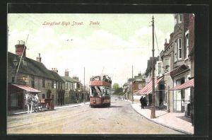 AK Poole, Longfleet High Street, Tramway, Strassenbahn