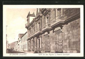 AK La Laguna, Calle de San Agustin y Palacio Episcopal