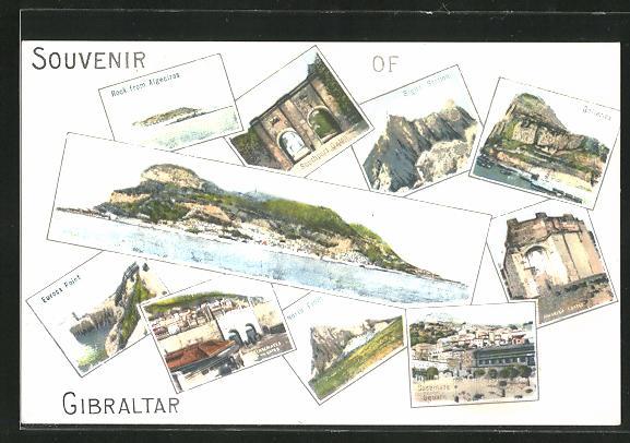 AK Gibraltar, Europa Point, Rock from Algeciras, Galleries, Casemate Square