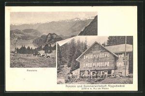 AK Hergiswil, Panorama, Pension und Sommerwirtschaft Alpgschwänd