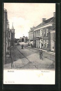 AK Delfzijl, Marktstraat, Hotel des Beurs