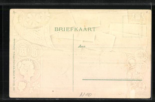 Präge-AK `s Gravenhage, Prinsessgracht, niederl. Banknoten und Münzen 1