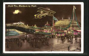 AK Blackpool, North Pier by Night