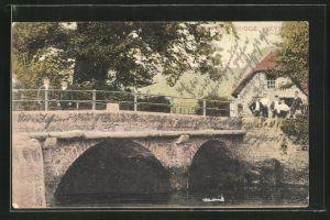 AK Weymouth, Teilansicht mit Brücke