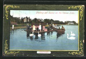 AK Southsea, Feeding the Swans on the Canoe Lake
