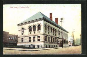 AK Portland, OR, City Library, Bibliothek