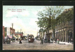 AK Salem, OR, State Street looking East
