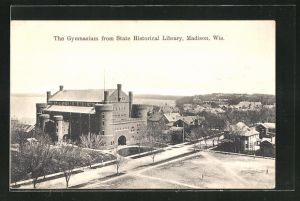 AK Madison, WI, The Gymnasium from State Historical Library