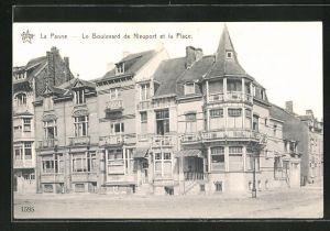 AK La Panne, Le Boulevard de Nieuport et la Place