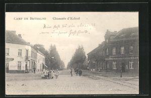 AK Beverloo, Blick in die Chaussée d`Echtel