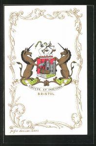 AK Bristol, Wappen Virtute et Industria