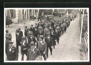 Foto-AK Wil, Strassenumzug 1925