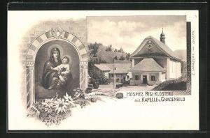 AK Rigi, Hospiz Rigi-Klösterli mit Kapelle u. Gnadenbild